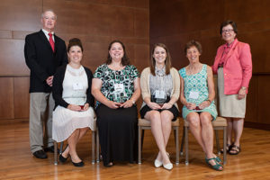 Vice Chancellor Lehman, Stephanie Harrill, Kari Temkin, Megan Miller, Karen Crossley, Chancellor Blank
